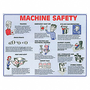 Safety Poster,18 x 24 In.