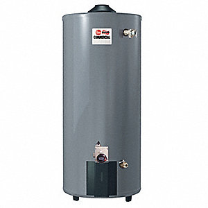 Commercial Gas Water Heater, 100 gal. Tank Capacity, Natural Gas, 80,000 BtuH