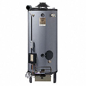 Commercial Gas Water Heater, 100 gal. Tank Capacity, Natural Gas, 270,000 BtuH