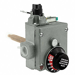 Replacement Gas Control Thermostat, Metal, For Use With 5AU69, 5AU70