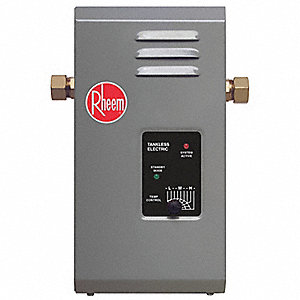Electric Tankless Water Heater, Undersink, Point-of-Use, 9000 Watts, 38 Amps AC