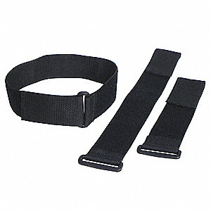 Cinch Strap,Black,2x12 In,PK10
