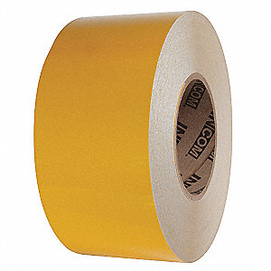 "Reflective Marking Tape, Solid, Roll, 4"" x 150 ft., 1 EA"