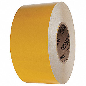 "Reflective Marking Tape, Solid, Roll, 6"" x 150 ft., 1 EA"
