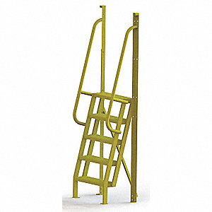 "Configurable Crossover Ladder, Steel, 50"" Platform Height, Number of Steps 5"
