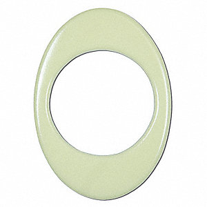 "Glow-in-the-Dark Doorknob Ring Marker, Solid, Ellipse, 3-1/2"" x 4-3/4"", 1 EA"