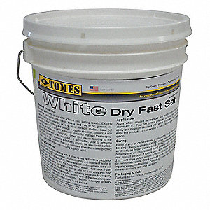 White Concrete Patch and Repair, 10 lb. Size, Coverage: 75 sq. ft. (Thinned and Bushed On), 10 sq. f