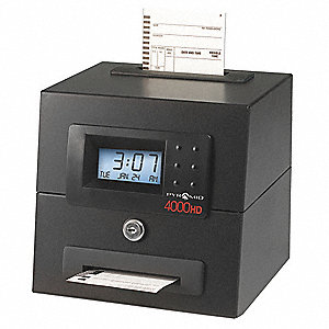 Auto Totaling Time Clock,Heavy Duty