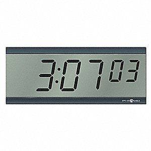 Wireless Sync LCD Clock,Digital,6 Digit
