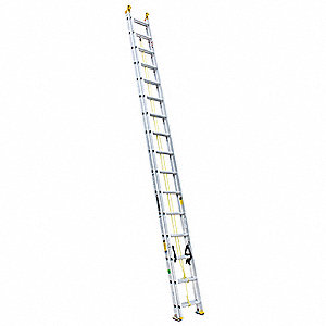 Extension Ladder, Aluminum, I ANSI Type, 32 ft. Industry Ladder Size