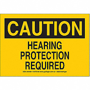 Sign,7x10,Hearing Protection,Vinyl