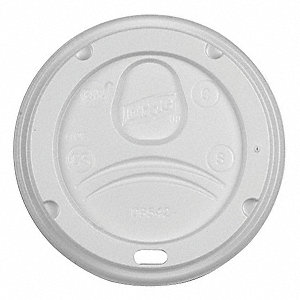 Hot Cup Dome Lid,White,PK1000