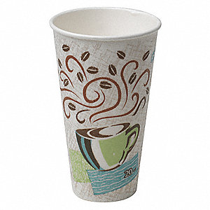 16 oz. Disposable Hot Cup, Paper, White, PK 500