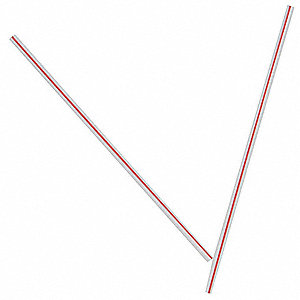 Stir Straws,White/Red,PK10000