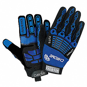 PVC, Cut Resistant Gloves, SuperFabric® Lining, Blue/Black, XL, PR 1