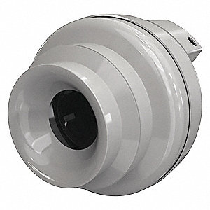 "Plastic Inline Fan, Fits Duct Dia. 8"", Voltage 120V"