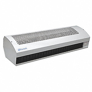 Heated Air Curtain, 1240 cfm, 52 dBA @ 10 Feet, Max. Door Width 4-1/4 ft., Max. Mounting Height 9 ft