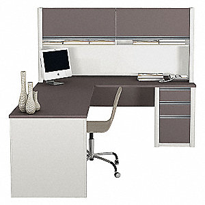 L-Shape Workstation,29-3/4x65-3/4x71 In