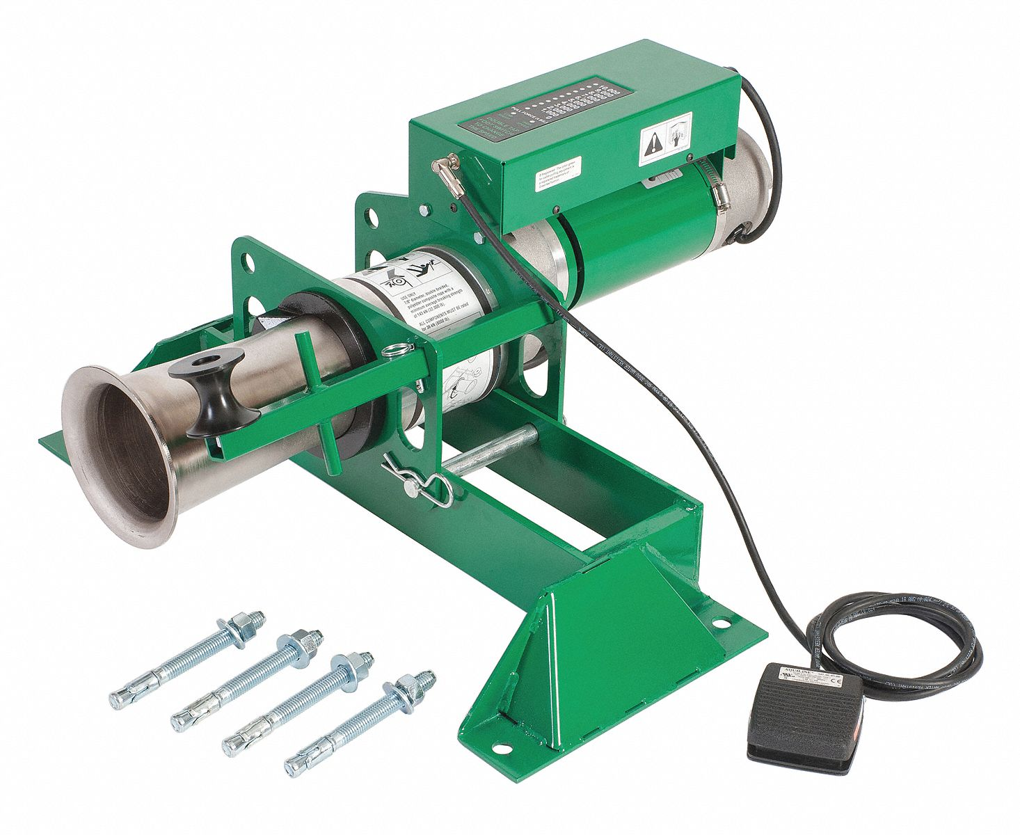 Electric Cable Puller : Greenlee cable puller lb v w floor mount