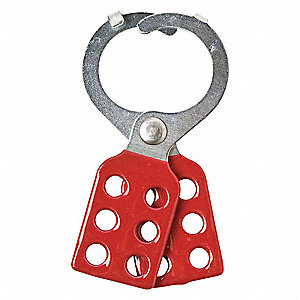Lockout Hasp,6 Lock,Red