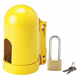 Yellow Locking Cylinder Cap, For Use With Low Pressure, Fine Thread Cylinders