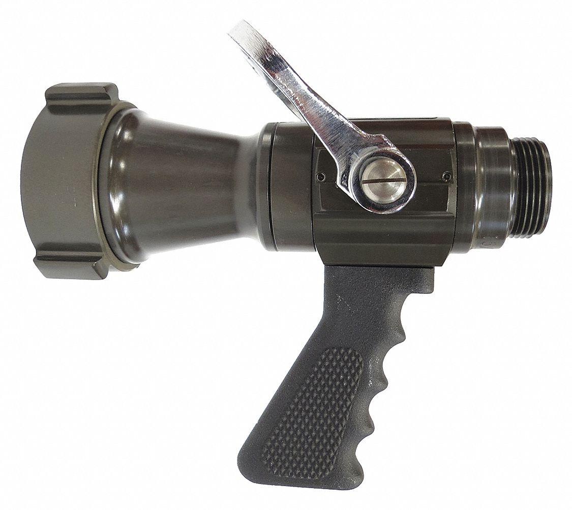 Elkhart brass fire hose nozzle in black z db
