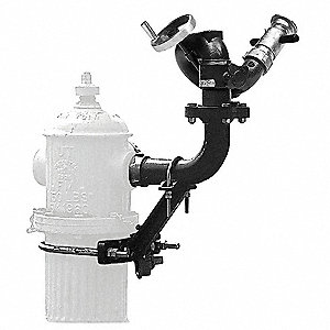 "Hydrant Monitor, Hydrant Mount Mounting, Handwheel Control, 2-1/2"" F NHT Inlet, 2-1/2"" M NHT Outlet"