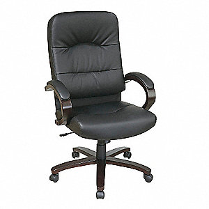 Exec Highback Chair,Eco Leather,Black