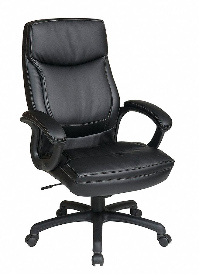 Office Star Black Eco Leather Executive Chair 30 Quot Back