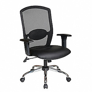 "Black Task Chair, 18-1/4 to 22-3/4"" Seat Height Range, 200 lb. Weight Capacity"