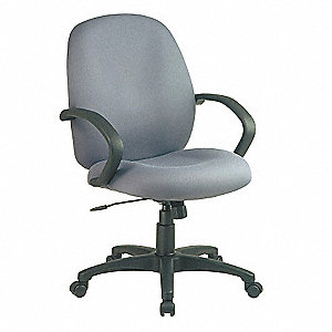 Executive Midback Chair,Fabric,Gray