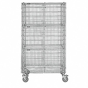 Mobile Security Cart, 1000 lb. Load Capacity, Non-Marring Caster Type, Polyurethane Caster Material