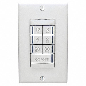 120/277VAC Wall Switch Timer, White