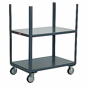 Mobile Table,2 Shelves,4 Stakes,24x24