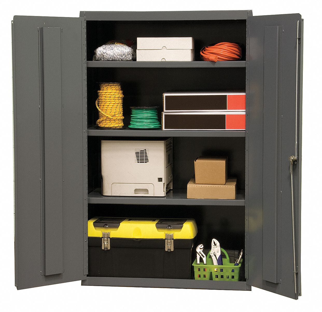 durham industrial storage cabinet gray 60 h x 36 w x 18 d assembled 16d676 2601 3s 95. Black Bedroom Furniture Sets. Home Design Ideas