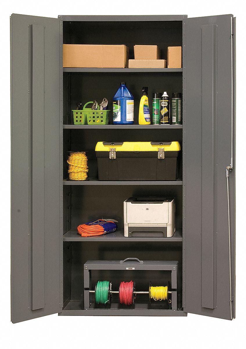 Durham Storage Cabinet 16 Ga 84 In H 36 In W 16d678