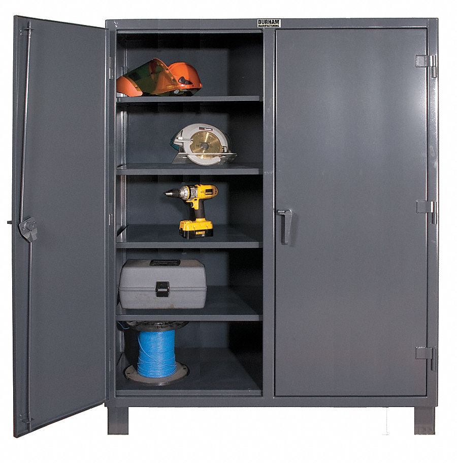 durham heavy duty storage cabinet gray 78 h x 48 w x 24 d assembled 16d697 hdds244878. Black Bedroom Furniture Sets. Home Design Ideas