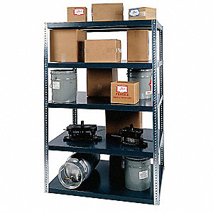 "Freestanding Shelving Unit, 96"" Height, 24"" Width, 3000 lb. Shelf Capacity, Number of Shelves 5"