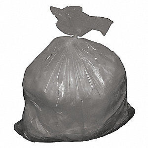 30 gal. Gray Trash Bags, Contractor Strength Rating, Cored Roll, 50 PK