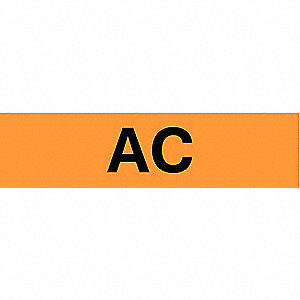 "Conduit and Voltage Markers, Markers per Card: 1, 9"" x 2-1/4"", AC Legend"