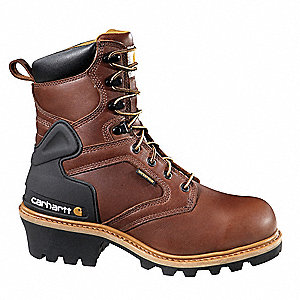 Logger Boots, Size 10-1/2, Toe Type: Steel, PR
