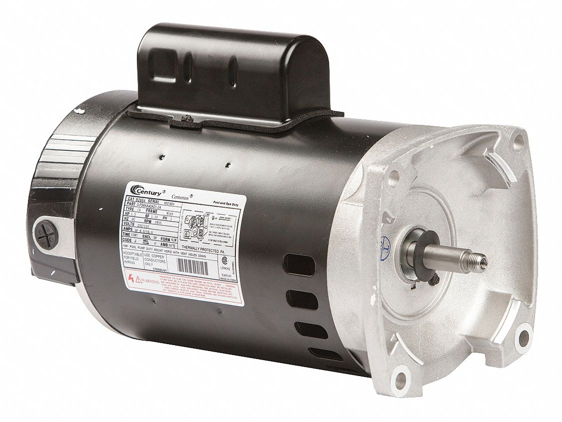 Century 1 1 2 hp pool and spa pump motor permanent split for Motor for pool pump