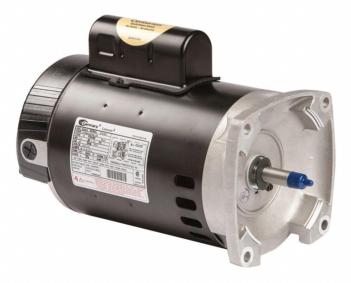Century 1 hp pool and spa pump motor permanent split for Century pool and spa motor