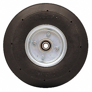 Solid Rubber Wheel,8 in Dia,280 lb,Black