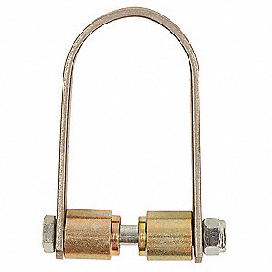 Connector,Silver/Gold,4-1/4 In. L