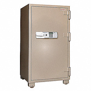 Commercial Fire Safe,6.8 cu ft,Tan