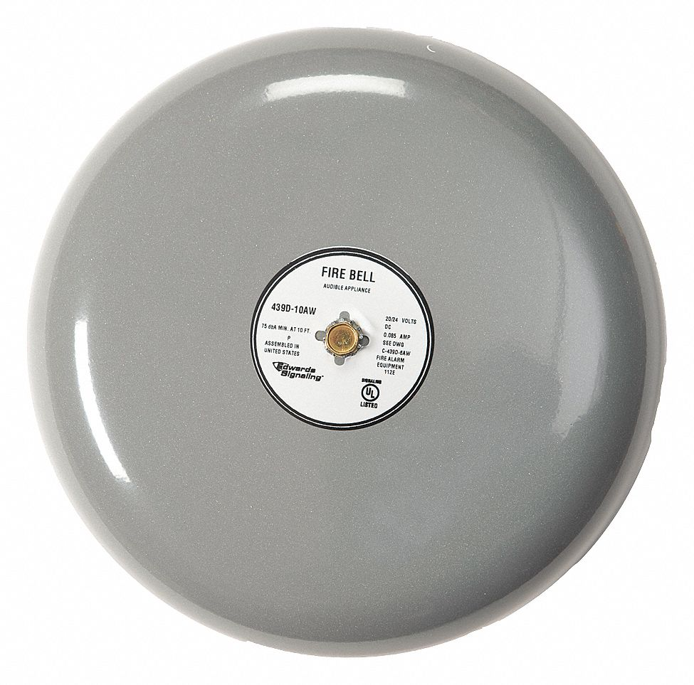Edwards Signaling Fire Bell Gray 8 In 20 To 24v 16x288