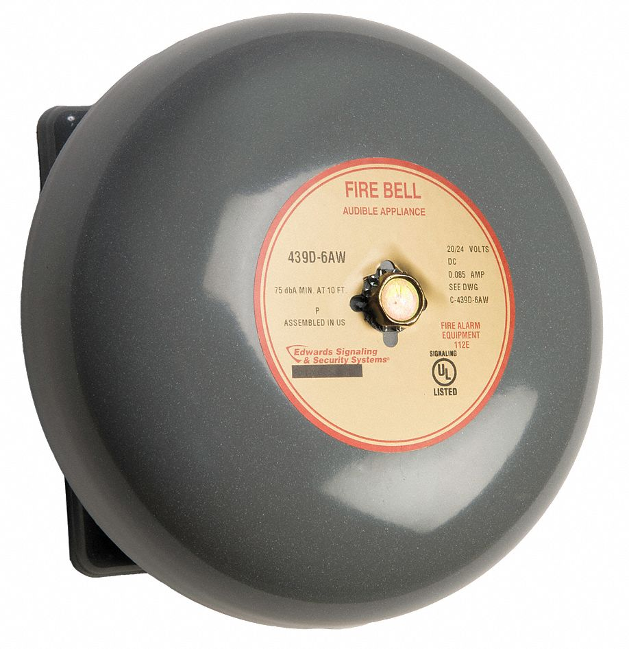 Edwards Signaling Fire Bell Gray 6 In 20 To 24v 16x287