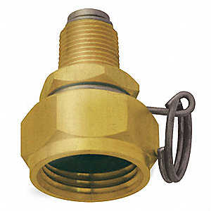 Swivel Hose Adapt,Brass,3/8MNPT,2 In L