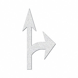 "Preformed Thermoplastic Pavement Markings, White, Right Combo Arrow, 12 ft. 9"" Overall Length"